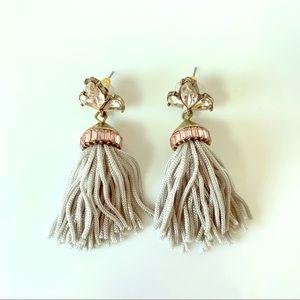 Brass Rhinestone Tassel Earrings Quality